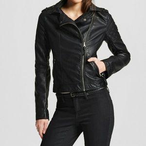 EUC Women's Faux Leather Moto Jacket - Xhilaration